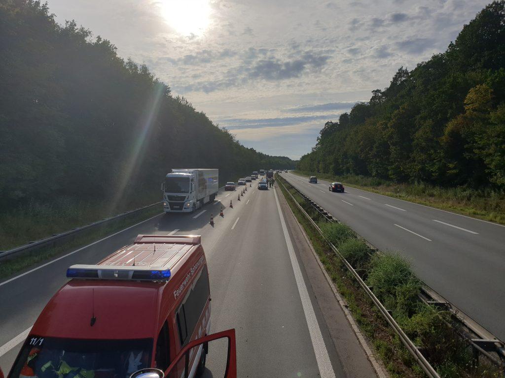 Verkehrsunfall PKW A70