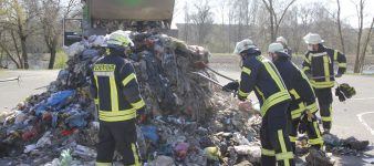 Brand Müllwagen